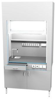 Шкаф вытяжной с сантехникой ШВ НВК 1200 МОН+ (1200x716x2200)