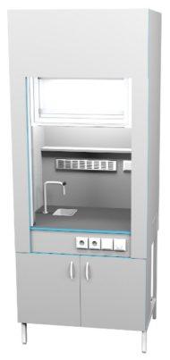Шкаф вытяжной с сантехникой ШВ НВК 900 ПП+ (900x716x2200) — КОПИЯ