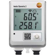 Testo Saveris 2-T3 — WiFi-логгер данных с дисплеем и двумя разъемами для подключения внешних термопар (0572 2033)